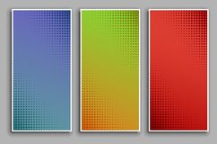 Free Pop Art Background Set With Halftone Dots, Vector Retro Comic Dotted Backgrounds Design Stock Photos - 144858043