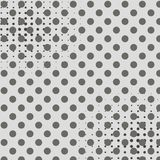 Pop art background shades of gray. Points Halftone Gradient as a Background or Motif to be used Retro Comics. Editable royalty free illustration