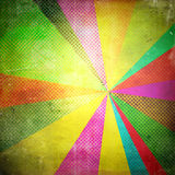 Pop art background. Pop art style background with colored rays Vector Illustration