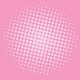 Pop Art Baker-Miller Pink Dots Comic Background Vector Template Design Royalty Free Stock Photo