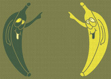Pop art banana Royalty Free Stock Photos