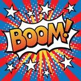 Pop-Art BOOM! Text-Design Lizenzfreie Stockfotografie
