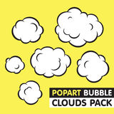 Pop art bubble clouds vector pack Stock Photos