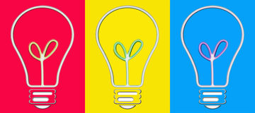 Pop Art Bulbs Royalty Free Stock Images