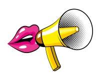 Pop Art Bullhorn Colorful Cartoon Stock Images