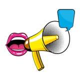 Pop Art Bullhorn Colorful Cartoon Stock Photography