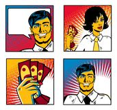 Pop Art Business Collection Stock Photography