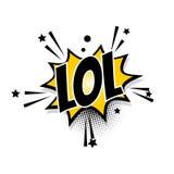 Pop art cômico da bolha do discurso do lol do texto Imagens de Stock Royalty Free