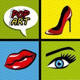 Pop art cartoon graphics Stock Photography