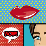 Pop art cartoon graphics Royalty Free Stock Photos