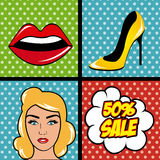 Pop art cartoon graphics Royalty Free Stock Photo