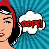 Pop art cartoon graphics Royalty Free Stock Photography