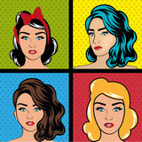 Pop art cartoon graphics Royalty Free Stock Image