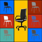 Pop art  chairs Royalty Free Stock Images