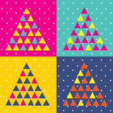 Pop Art Christmas tree triangle. Abstract stock illustration