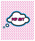 Pop Art cloud bubble on dot background. Image of art Royalty Free Stock Photos