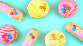 Pop Art Colourful Bakery Goodies Royalty Free Stock Photography