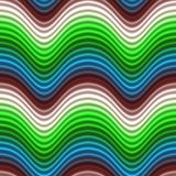 Pop Art Color Waves Blue Red Seamless Stock Photo