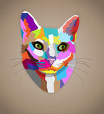 Pop art colorful cat. Royalty Free Stock Images