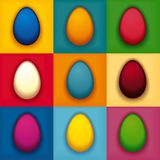 Pop art colorful eggs Royalty Free Stock Image