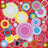 Pop Art Colour Circles Royalty Free Stock Images