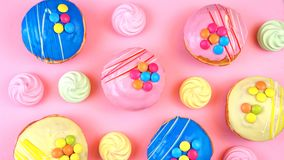Pop Art Colourful Bakery Goodies Royalty Free Stock Images