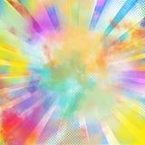 Pop-art colourful burst Stock Photos