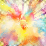 Pop-art colourful burst. Background of pop-art burst bright colored powders Royalty Free Stock Photography