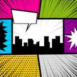 Pop art comic book colored backdrop Royalty Free Stock Images