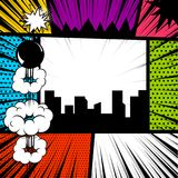 Pop art comic book colored backdrop Royalty Free Stock Photo