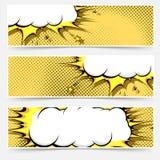 Pop-art comic book style web flyer layout Stock Image