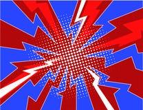 Pop art comic lightning explosion halftone background illustration Royalty Free Stock Photos