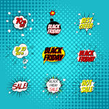Pop art comic sale discount promotion vector illustration Stock Photos