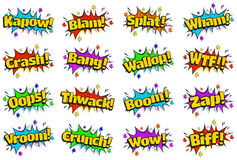 Pop Art Comic Sound Effects Bubbles Royalty Free Stock Images