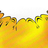 Pop-art comic speech bubble background. Vector illustration Stock Photography