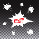 Pop art comic speech bubble, wow Stock Photography