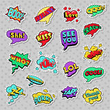Pop Art Comic Speech Bubbles with Expressions Cool Bang Zap Lol Royalty Free Stock Image