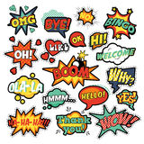 Pop Art Comic Speech Bubbles Set Royalty Free Stock Image