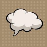Pop-art comic speech. Speak, halftone, speech, dialog, cloud, expression, brown, blank, comic, concept, , template, graphic, monologue, circuit, gray, idea Royalty Free Stock Photos