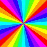 Pop art comic style rainbow colored rays background royalty free stock photos