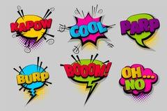 Pop art comico stabilito del fumetto del testo Immagine Stock Libera da Diritti