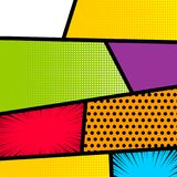 Pop art comic book strip background Royalty Free Stock Images