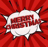 Pop Art comics icon Merry Christmas. Speech Bubble Vector illustration. Pop Art comics banner Merry Christmas. Speech Bubble Vector illustration stock illustration