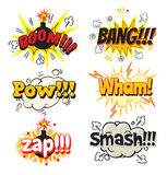 Pop art comics style Stock Image