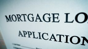 Abstract mortgage loan illustration Stock Photo