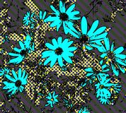 Pop Art Daisy Wallpaper Royalty Free Stock Photos