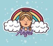 Pop art de Angel Fairy Godmother ilustração stock