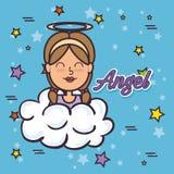 Pop art de Angel Fairy Godmother ilustração do vetor