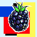 Pop art de Blackberry Fotos de Stock Royalty Free
