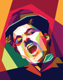 Pop art de Charlie chaplin ilustração royalty free